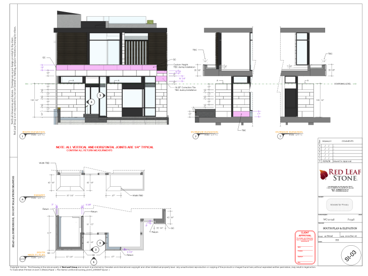 South Plan & Elevation